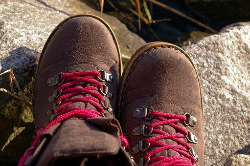 Shoe, Trekking, Eyelets, Sole, Shoelace, Hiking Shoes
