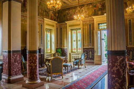 Villa Cortine Palace, Interior Design, Antiques