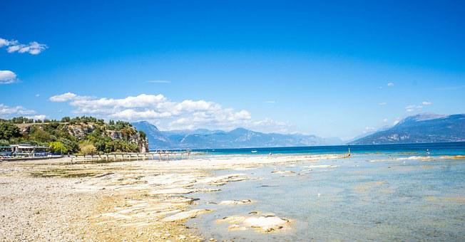 Lake Garda, Sirmione, Beach, Water, Italy, Landscape