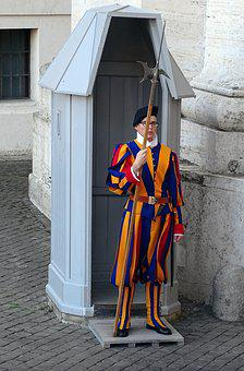 Swiss Guard, Rome, Italy, St Peter's Square, Catholic