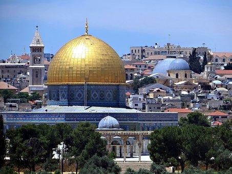 Jerusalem, Gold, Dome, Religion, Holy, Islam, Tourism