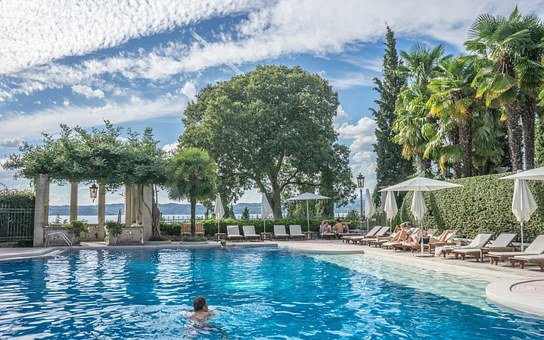 Villa Cortine Palace, Sirmione, Lake Garda, Pool