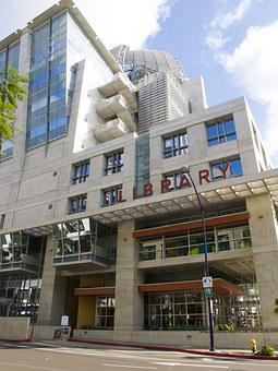 San Diego, Library, Downtown, City, California, Books