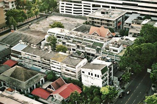 City, House, Buildings, Big City, Lit, Balconies