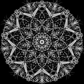 Mandala, Psychedelic, Neon, Artebyspacemandala