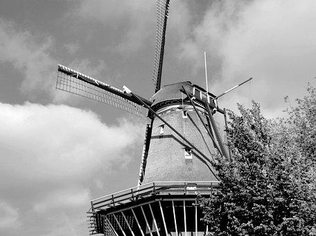 Amsterdam, Windmill, Holland, Netherlands, Dutch, Mill