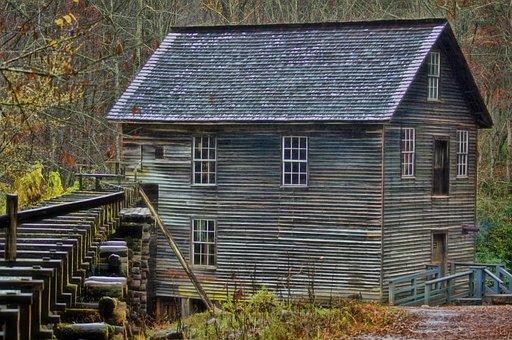 Grist Mill, Mountains, Rural, Mill, Grist, Landscape