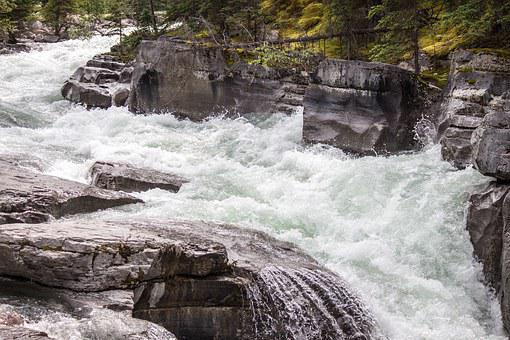 River, Rapids, Canyon, Water, Nature, Flowing, Rocky