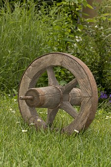Old Wheel, Wheel, Cart, Old, Dare, From Wood