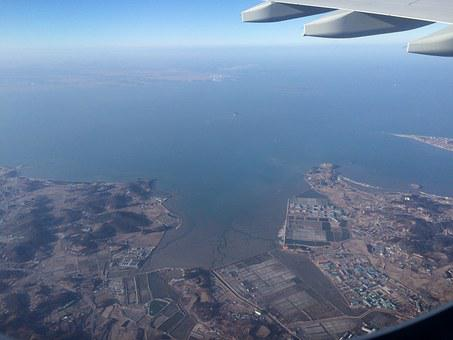 Korean West Sea, On The Plane To The West Coast