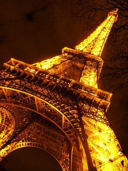 Eiffel Tower, Paris, Europe, Architecture, Construction