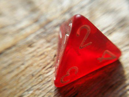 Dice, Game, Rpg, D4, Roll, Pyramid, Play