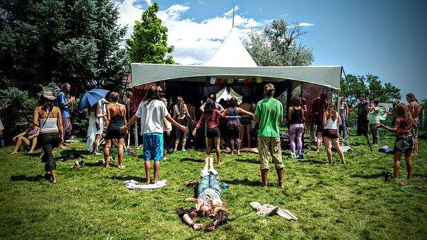 Festival, Hippies, Happy, Hippy, Fun, Retro, Vintage