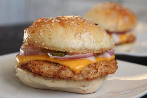 Sandwich, Fast Food, Hamburger, Burger, Lunch