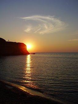 Crimea, Sunset, Sea, Sevastopol, Beauty, Beach