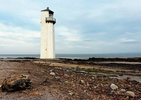 Lighthouse, Southerness, Sea, Travel, Ocean