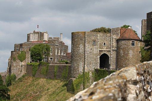Dover, Dover Castle, Port Dover, Sky, Water