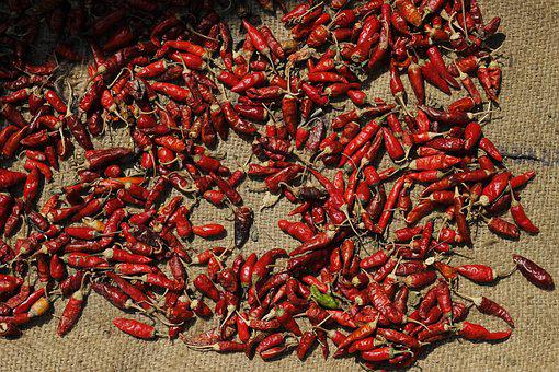 Red, Chilli, Spices, Asian, Food, Healthy, Ingredient