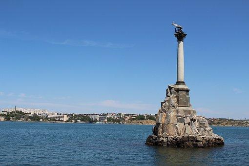 Sevastopol, Russia, Crimea, Seas, Port, Statue, Memory
