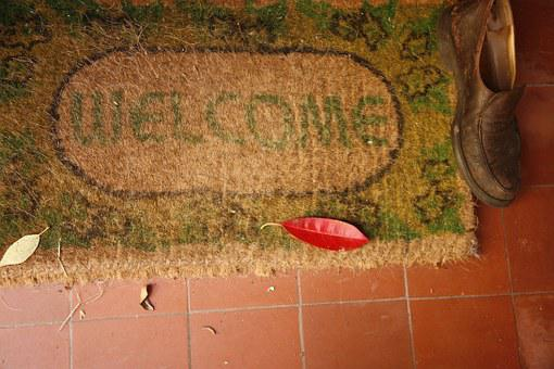 Welcome, Welcome Home, Mat, Sign, Door, Entrance, House