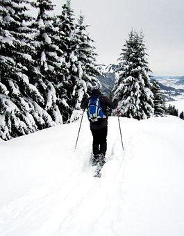 Snowshoe, Snowshoeing, Snow, Mountains, Winter Hiking
