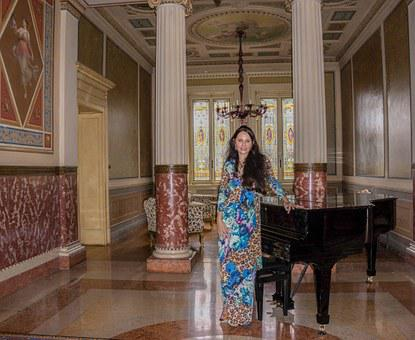 People, Person, Woman, Female, Piano, Antiques, Fashion