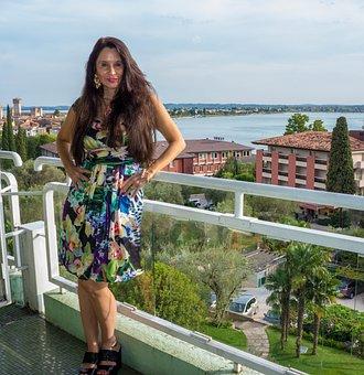 Woman, Person, People, Lake Garda, Sirmione