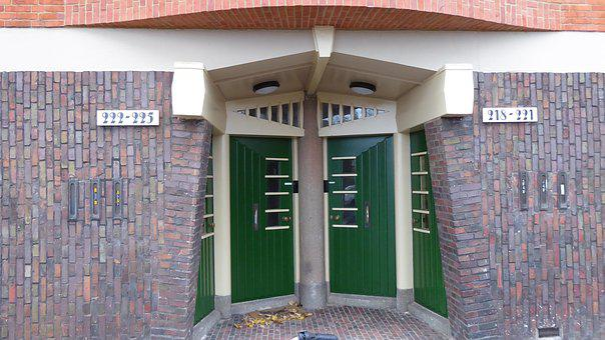 Door, Architecture, Amsterdam School, Facade