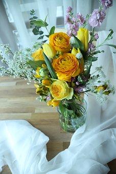 Flowers, Bouquet De Fleurs, Vase, Plants, Floral, Rose