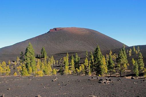 Volcano, Chinyero, Canary Islands, Tenerife Landscape