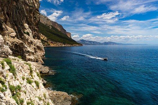 Sea, Nature, Waters, Coast, Travel, Corsica, Sardinia