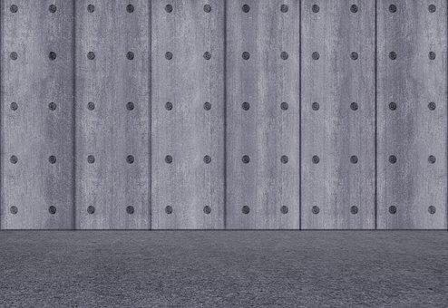 Concrete, Space, Empty, Fair Faced Concrete, Interior