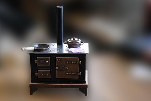 Cooker, Coal Stove, Old, Stove, Kitchen, Cooking Zone