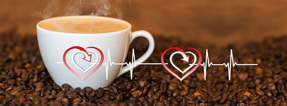 Coffee, Cup, Heart Rate, Pulse, Live, Line, Wave