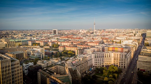Berlin, Skyline, Potsdamer Platz, Tv Tower, Fernsehturm