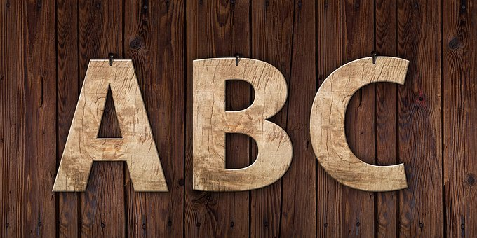 Letters, Abc, Wood, Grain, Education, Gold, Golden
