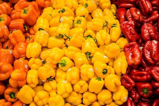 Market, Food, Vegetable, Healthy, Batch, Pepper