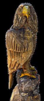 Adler, Holzfigur, Figure, Wood, Bird, Decoration