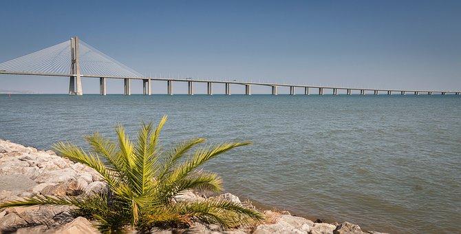 The Vasco Da Gama Bridge, Bridge Vasco De Gama, Lisbon