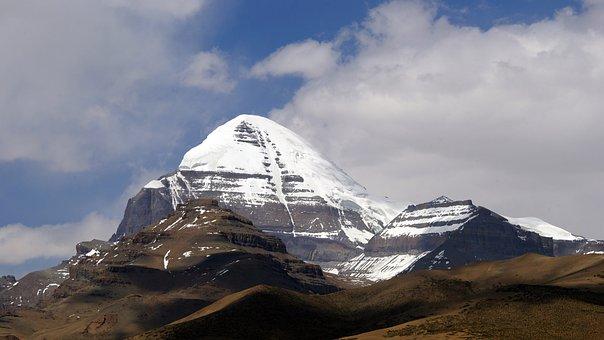 Mount Kailash, Mountains, Snow Mountain, Blue Sky