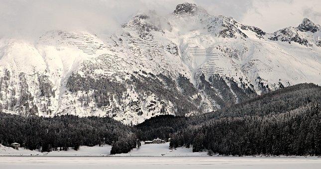Snow, Mountain, Winter, Panorama, Ice