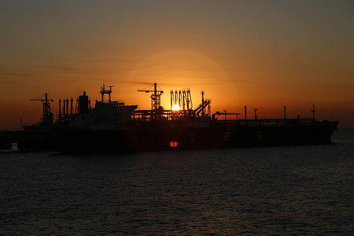 Sunset, Industry, Sea, Ship, Water, Energy, Sky, Boat