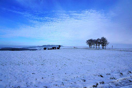 Winter, Snow, Nature, Landscape, Sky, Hegau, Germany