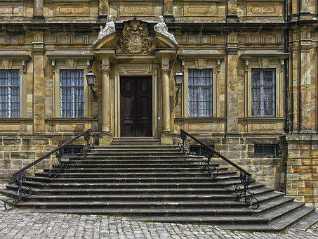 Portal, Stairs, Historically, New Residence, Baroque
