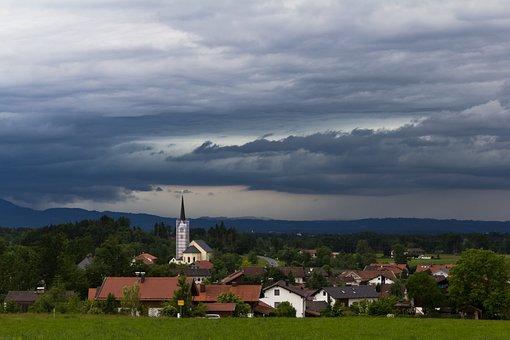 Tree, Sky, Nature, Travel, Bavaria, Thunderstorm