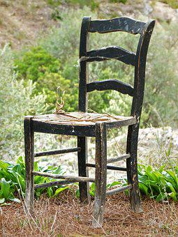 Chair, Abandoned, Old, Soledad, Wood, Nature, Outdoors