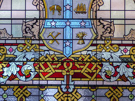 Stained Glass, Colorful, Window, Architecture, Pattern