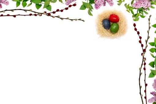 Easter, Leaf, Decoration, Picture Frame, Flower, Color