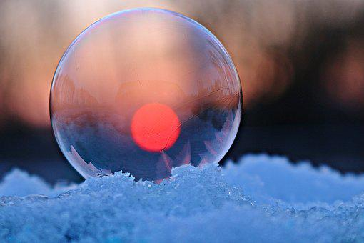Frozen Bubble, Ice Ball, Frost Blister, Soap Bubble