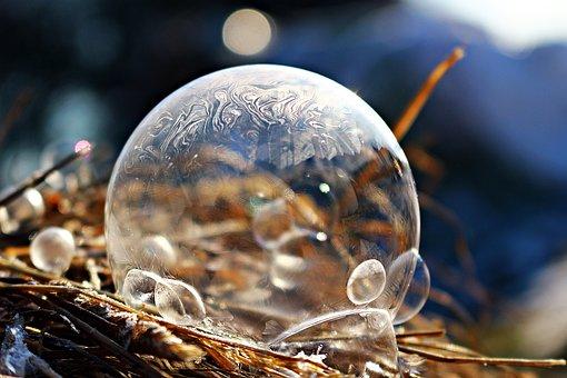 Ice-bag, Ice Ball, Soap Bubble, Frozen Bubble, Frozen